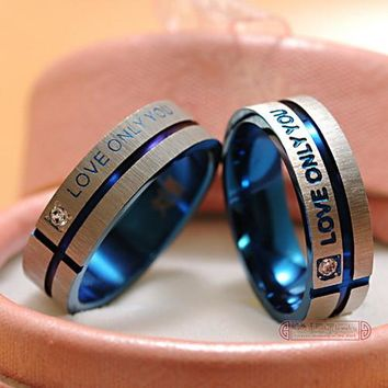 Love Only You Anniversary or Promise Ring For Men or Women