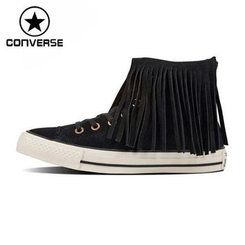 DCCKHD9 Original New Arrival Converse all star fringe suede Women's Skateboarding Shoes Sneak