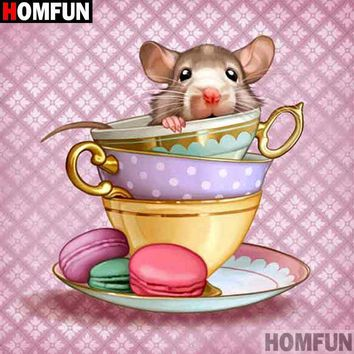 5D Diamond Painting Teacup Mouse Kit