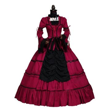 Renaissance Wench Gothic Princess Dress Ball Gown Steampunk Sexy Vampire Theatre Halloween Costume