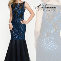 Amazing Beaded Milano Formals Dress E1905