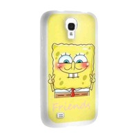 Cute Spongebob Best Friends for Best Iphone and Samsung Galaxy Case (samsung galaxy s4 white)