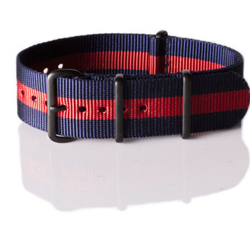 PVD premium NATO Strap Navy and Red
