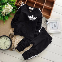 2017 Spring Autumn Baby Boy Girl Clothes Long Sleeve Top + Pants 2pcs Sport Suit Baby Clothing Set Newborn Infant Clothing
