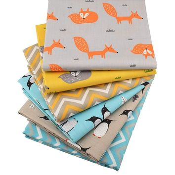 6pcs/lot Twill Cotton Fabric Patchwork Cloth DIY Baby&Child Sewing Quilting Fat Quarters Material