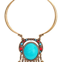 GYPSY WARRIOR - Turquoise Collar Necklace