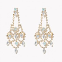 Crown Iridescent Drop Earrings | Charming Charlie