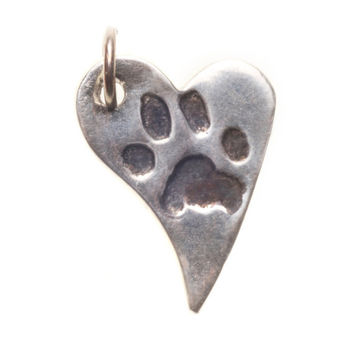 Sterling Silver Paw Print Designs