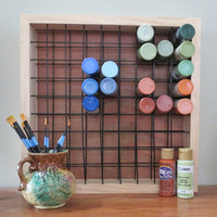Paint Storage Rack Holds 81 2oz Craft Paint Bottles