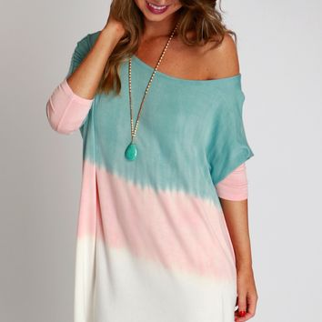Life In Color Shift Dress Mint
