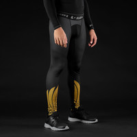 Icarus Black and Gold compression tights / leggings