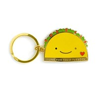 Taco Tuesday Enamel Keychain