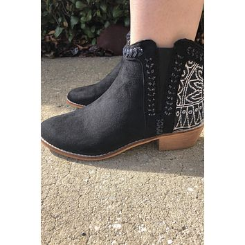Lily Booties- Black/Boho