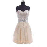 Homecoming Dress, Sequin Homecoming Dress, Strapless Homecoming, Short Sequin Prom Dress, Sequin Cocktail Dress, Short Sequin Cocktail Dress