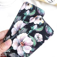 Fashion  Flower Case For iphone 6 Case For iphone 6S 7 7 PLusl