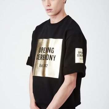 Opening Ceremony OC Cut-Off Gold Logo Sweat Tee - MEN - Opening Ceremony - OPENING CEREMONY