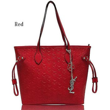 YSL Yves Saint Laurent women's stylish leather handbag F-MYJSY-BB Red