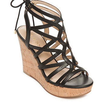 GUESS® Huyana3 Cork Wedge Sandals