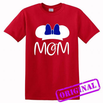 2 MOM Minnie Mouse for women for shirt red, tshirt red unisex adult