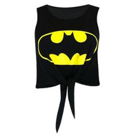 Delicate Women New Batman Tie Sleeveless Shirt Vest