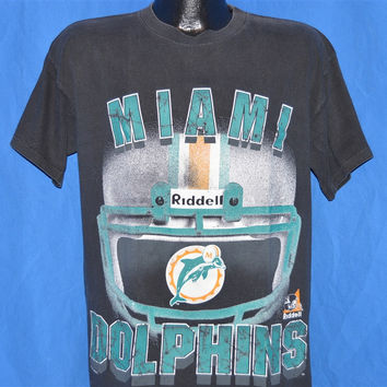 90s Miami Dolphins Riddell Helmet t-shirt Large