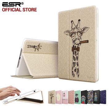 Case for iPad Air, ESR Illustrators Cute Cartoon Folio Stand Smart Cover Auto Wake Up/Sleep Case for iPad Air (5 Gen 2013)