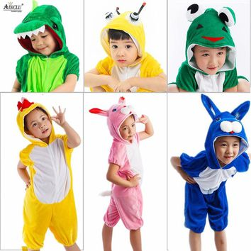 Children's Onesuit Cosplay Kids Boys Girls Pajamas Christmas Totoro unicorn Pikachu Dinosaur Panda pyjama Animal Baby Sleepwear