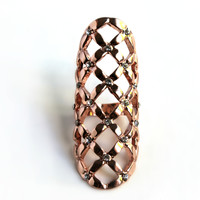 """Majestic"" Rose Gold Statement Ring"