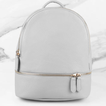Suzie Faux Leather Backpack