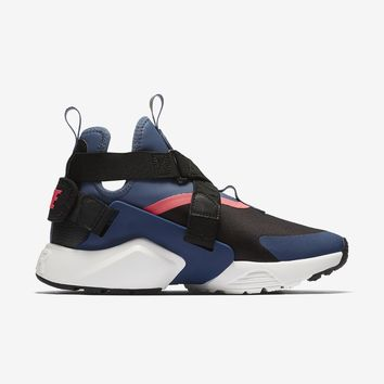 qiyif WMNS NIKE AIR HUARACHE CITY - BLACK/DIFFUSED BLUE/RACER PINK/NAVY
