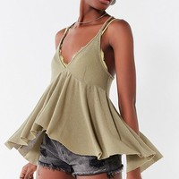 UO Lola Thermal Babydoll Tank Top | Urban Outfitters