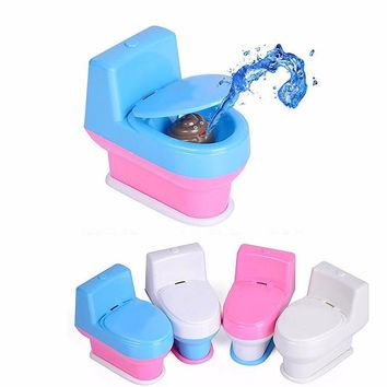 Strange new Tricky toilet seat whole person Funny spoof vent creative joke toys April Fool's Day Toys Free Shipping WYQ