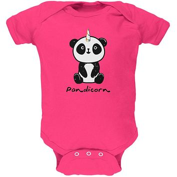 Pandicorn Panda Unicorn Soft Baby One Piece