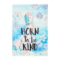 Born To Be Kind Buddha Wall Canvas