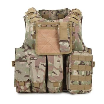 Military Body Armor Plate Carrier Tactical Vest Hunting Vest  Molle Mag Ammo Chest Rig Paintball Army Harness Outlife Tactical