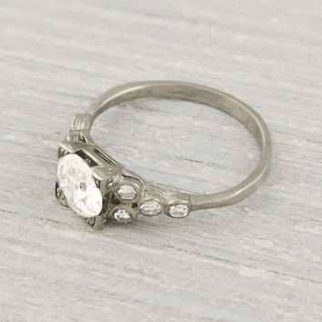 1.08 Carat Vintage Diamond Engagement Ring