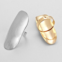 Gold & Silver Armor Bundle Rings (12 Pieces)