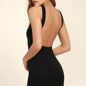 Key Largo Black Bodycon Dress