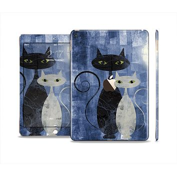 The Abstract Black & White Cats Skin Set for the Apple iPad Air 2