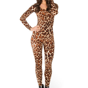 Baby Giraffe Long Sleeve Catsuit