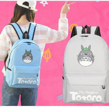 Lowest price Totoro Kawaii Totoro Emoji Printing Women Backpack Mochila School Backpacks for Teenage Girls