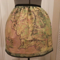Lord of the Rings inspired skirt  map of by NerdAlertCreations