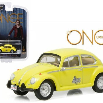 "Emma's Volkswagen Beetle Yellow ""Once Upon a Time"" TV Series (current) 1-64 Diecast Model Car by Greenlight"