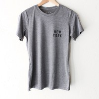 New York Relaxed Tee - Grey