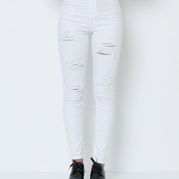 Getting Into White Denim Jeans - White