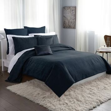DKNY City Line Duvet Cover in Midnight