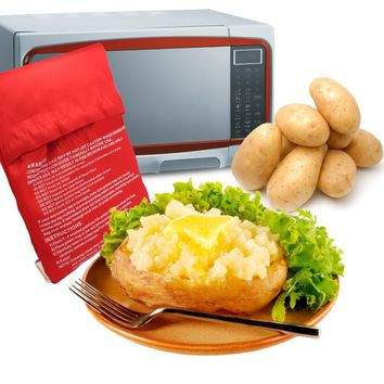 Red Washable Microwavable Baked Potato Cooker  (cooks 4 potatoes at once)