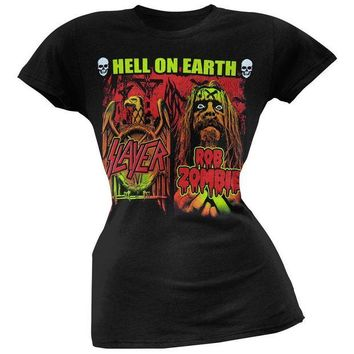 DCCKU3R Rob Zombie - Slayer/Rob Zombie Hell On Earth Juniors T-Shirt