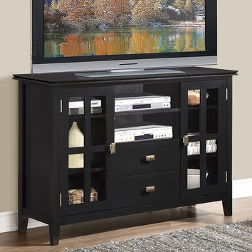 Simpli Home Artisan Tall TV Stand (Black)