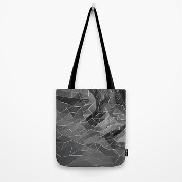 Abstract black explosion. Geometric background Tote Bag by Taoteching / C4Dart